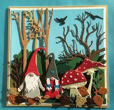 Christmas Gnome, Diy Christmas Gifts, Handmade Christmas, Pop Up Cards, Cute Cards, Marianne Design Cards, Christmas Cards 2018, Cricut Cards, Fall Cards