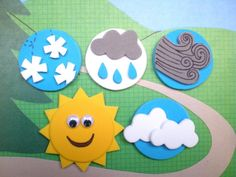 something like this for water cycle Weather Magnets, Preschool Weather Activities, Teaching Weather