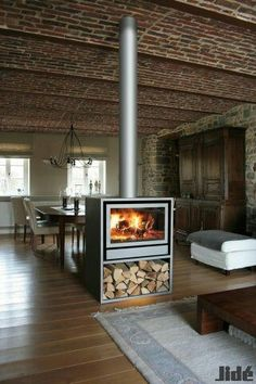two sided wood fireplace contemporary mantel for central double sided fireplace favorite places spaces mantels contemporary and stove 3 sided wood burning fireplace uk Double Sided Stove, Double Sided Fireplace, Home Fireplace, Fireplace Design, Fireplace Ideas, Fireplaces, Bathroom Fireplace, Craftsman Fireplace, Cottage Fireplace