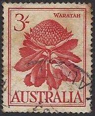 Australia---Waratah---3-shillings