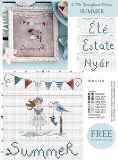 The Snowflower Diaries - Summer, free chart