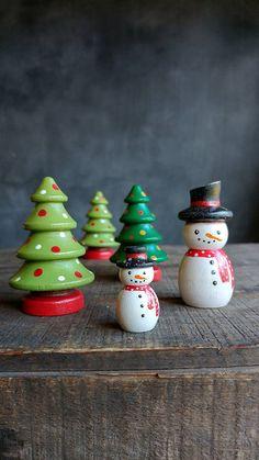 Christmas Tree Peg Doll Christmas Miniatures Christmas Cake