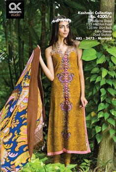 Formal Wear Suits For Girls By Alkaram From 2014 & 2015 Pakistani Street Style, Casual Dresses, Formal Dresses, Pashmina Shawl, Pakistani Designers, Winter Collection, Formal Wear, Dress Brands, Couture