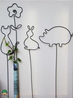 卡通小动物...来自狐爪爪的铝线王国的图片分享-堆糖网