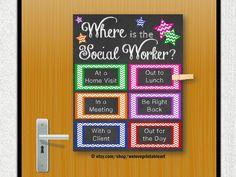 School Social Worker Gift, Social Work, Door Decoration, Social Worker Office Decor, Child Welfare, Back to School Gift, Printable Poster