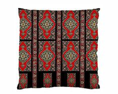 Armenian Folk Art Throw Pillow Case