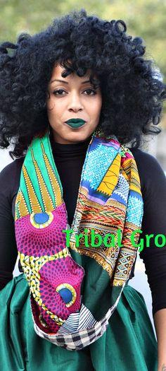 Reversible Circle Loop Patchwork Ethnic African Ankara Print Shawl Infinity Scarf. Ankara | Dutch wax | Kente | Kitenge | Dashiki | African print bomber jacket | African fashion | Ankara bomber jacket | African prints | Nigerian style | Ghanaian fashion | Senegal fashion | Kenya fashion | Nigerian fashion | Ankara crop top (affiliate)