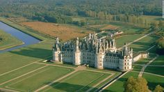 Le Chateau de Chambord is the largest of several amazing castles built along the Loire Valley. The French Renaissance building features 440 rooms and a double-helix fireplace supposedly based on a design by Leonardo da Vinci.