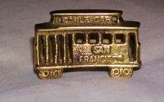 vintage Brass CABLE CAR miniature San by charlotteswonderweb, $10.25