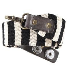 *NEW* Noosa Amsterdam Roots Woven Fabric Strap - Black/White Of Brand, Woven Fabric, Amsterdam, Roots, Belt, Black And White, Accessories, Fashion, Belts
