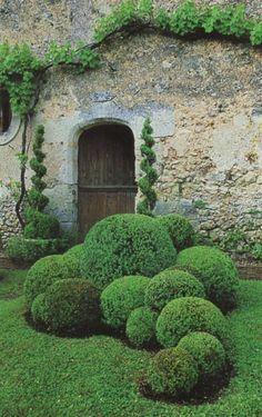A living garden ornament. #formalgardens