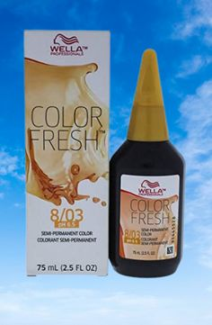 Wella Color Fresh Semi-Permanent Color 8 03 Light Blonde-Natural Gold for Unisex Hair, 2.5 Ounce #haircolor #wellacolor #unisexhair #goldahir Wella Color Fresh, Gold Blonde Hair, Light Blonde, Semi Permanent, Haircolor, Unisex, Natural, Hair Color, Golden Blonde Hair