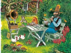 Sven Nordqvist Nordic Art, Cartoon Art Styles, Here Kitty Kitty, Typography Prints, Cute Illustration, American Artists, Crazy Cats, Book Art, Art Prints