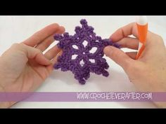 This tutorial not only shows you how to make the snowflake motif, but also how to block it with spray starch.