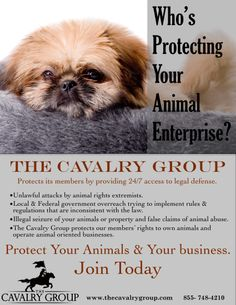 "Rick Berman wannabes? ""The Cavalry Group provides 24/7 legal defense for your animal enterprise. An affordable peace of mind. #TheCavalryGroup"""