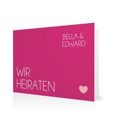 Hochzeitseinladung Klares Ja in Hibiskuspink - Klappkarte flach #Hochzeit #Hochzeitskarten #Einladung #Foto #modern #Typo https://www.goldbek.de/hochzeit/hochzeitskarten/einladung/hochzeitseinladung-klares-ja?color=hibiskuspink&design=5851f&utm_campaign=autoproducts