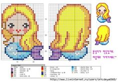 Mermaid perler bead pattern