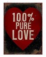 La Finesse Tekstbord Canvas Hout 71 x 50 cm - Pure Love Magic Island, Digital Magazine, Hopeless Romantic, Signs, 100 Pure, Love Heart, Ibiza, Poster Prints, Posters
