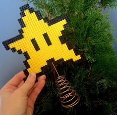 Super Mario Bros. Star Tree Topper by theNIFTYnerdette on Etsy