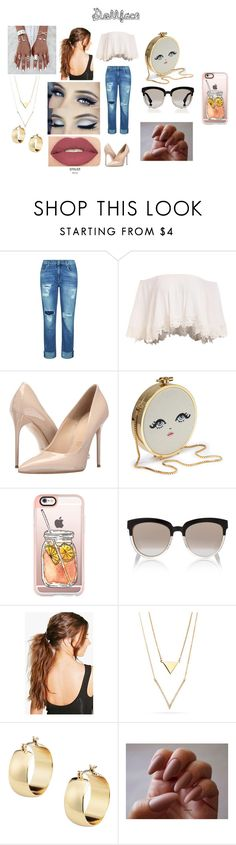 """""""Doll Face"""" by alliephil ❤ liked on Polyvore featuring 7 For All Mankind, Massimo Matteo, Casetify, Christian Dior, Boohoo and Smashbox"""