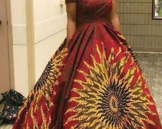 African Women's Clothing, Ankara Dress,African Print Dress, African Fashion, African Style - Women's style: Patterns of sustainability African Party Dresses, African Dresses For Women, African Attire, African Women, Maxi Robes, Ankara Dress, African Print Fashion, African Fabric, Unique Dresses