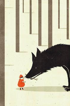 Minimalistisch und surreale Illustrationen von SHOUT