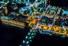 Fotos aéreas que muestran la belleza de Londres de Noche | videografoto