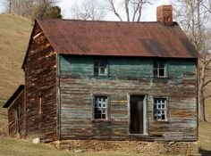 Photo of a forgotten, but once beautiful farmhouse, located in Mount Morris, Pennsylvania.  Love how the color is still revealed, and the contrast. by Tammie Dunlap