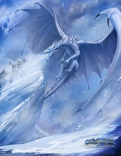 """""""A dragon that breathes ice?"""" 'So have dragon shifters. Mythical Creatures Art, Mythological Creatures, Magical Creatures, Fantasy Creatures, Dragon Medieval, Ice Dragon, Snow Dragon, Dragon Wolf, Cool Dragons"""