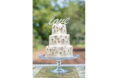 Gold glitter LOVE cake topper by Lovilee
