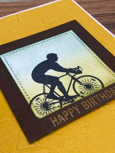 I love this image for masculine birthday cards. I wanted the sentiment to be subtle but stand out enough so heat embossed in gold on Eary Espresso cardstock. Masculine Birthday Cards, First Love, My Love, Espresso, Card Stock, Stampin Up, Greeting Cards, Handmade Gifts, Gold