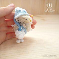 Купить Снежная Фея Мими. - амигуруми, игрушка, кукла, крючком, микровязание, вязание крючок, миниатюра