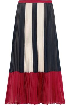 Navy, red and cream chiffon Concealed zip fastening along side 100% polyester Dry clean Imported