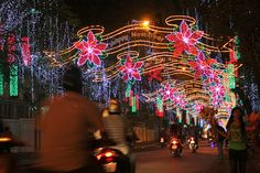 Vietnamese New Year (TET) decorations in Ho Chi Minh City