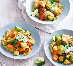 Sweet potato dhal with curried vegetables