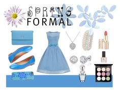 """""""Spring formal"""" by cocodes ❤ liked on Polyvore featuring Elorie, Prada, Dorothy Perkins, ncLA, MAC Cosmetics, Marc Jacobs, Spring, Blue and dress"""