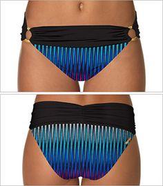 Vida Shirred Banded Swimsuit Bottom Style F214