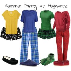 Slumber Party At Hogwarts, created by nearlysamantha on Polyvore