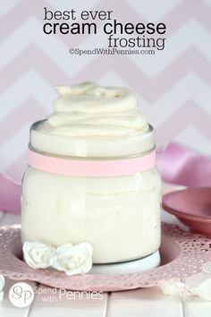 Best Ever Cream Cheese Frosting!  Smooth and creamy, perfect on carrot cake, banana cake, red velvet and so much more!