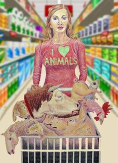 Can you see how ignorant it is ? If you eat meat PLEASE don't say you love animals!!! If you really love animals so do not eat them!