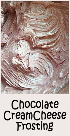 Chocolate Cream Cheese Frosting - light and fluffy