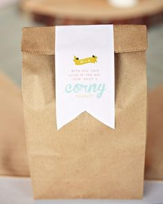 """Popcorn was passed out in """"A Corny Treat"""" goodie bags."""