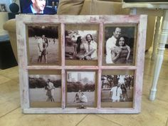 You can add any pictures that you want, you will just have to email me/mail me pictures that you want me to add to the window frame. A burlap fabric is added to the back to for a fabulous background and an attachment to hang your window on your wall is also added.