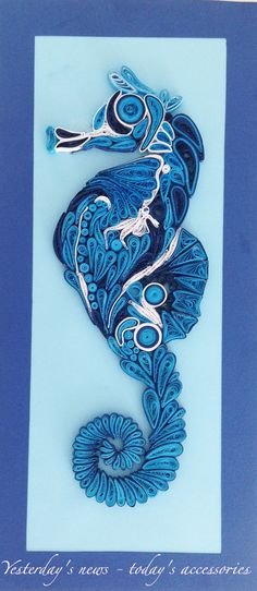Quilled paper seahorse frame by Yesterday's news - today's accessories