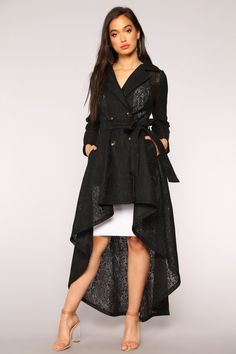 The Little Things Lace Coat - Black Kurti With Jeans, Capsule Outfits, Women's Fashion Dresses, Lace Dress, Cool Outfits, Stylish, My Style, Womens Fashion, Clothes