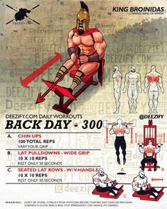 wod 2016 back day 300 Remarkable stories. Bodybuilding Motivation, Bodybuilding Workouts, Chest Workouts, Gym Workouts, 300 Workout, Monthly Workouts, Workout Schedule, Muscle Fitness, Mens Fitness