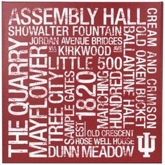 7435af5c284 Indiana Hoosiers Indiana Basketball, Bloomington Indiana, Iu Hoosiers,  Subway Art, Canvas Art