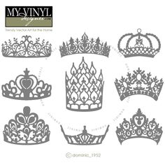 DIGITAL DOWNLOAD ... crowns vectors in AI, EPS, GSD, & SVG formats @ My Vinyl Designer #myvinyldesigner #dominic