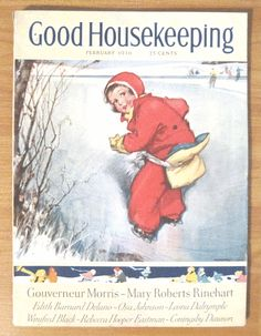 Good Housekeeping Magazine Febuary 1936 Cover Horace Gaffron Cover Art