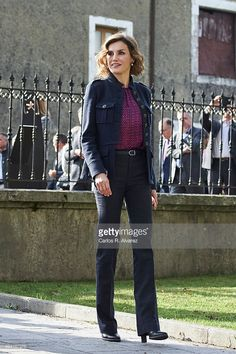 Queen Letizia of Spain visits 2015 Exemplary Town of Colombres on October 24, 2015 in Colombres, Spain. The village of Colombres was honoured as the 2015 Best Asturian Village.  (Photo by Carlos R. Alvarez/WireImage)